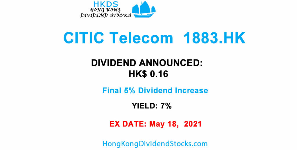 HKG:1883 Citic Telecom results dividend high yield contender