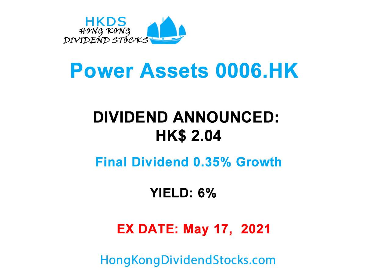 Power Assets HKG:0006 : HK$2.04 per share final dividend