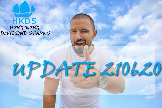 210620 Update Hong Kong Dividend Growth stocks